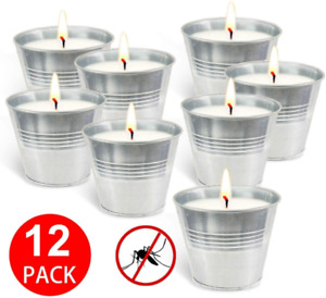 YIH Citronella Candles,Wax Bucket Candle Seaside Escape 12-Pack