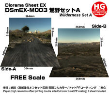 [HAKONIWAGIKEN DSmEX-M003 515x364mm]Diorama sheet mini-EX HG Wilderness set A
