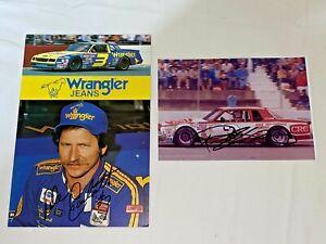 Dale Earnhardt 1984 WRANGLER VINTAGE Richard Childress CRC #3 autographed photos
