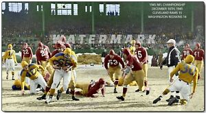 1945 NFL CHAMPIONSHIP GAME WASHINGTON at CLEVELAND (comes in 4 sizes)