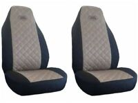 Front Seat Covers for Land Rover Freelander, Discovery, Defender BLACK AND BEIGE