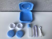 Contact Lens Case Solution Applicator Cute Travel Kit Holder Inserter Tweezers