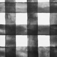 Magnolia Home Lg Watercolor Black & White Check on Sure Strip Wallpaper MH1516