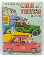 The Great Big Car & Truck Book Richard Scarry 1973 Vintage HC in Good Condition