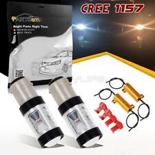 2x1157 Cree XBD Switchback White/Amber LED Front Turn Signal Light Bulb+Resistor