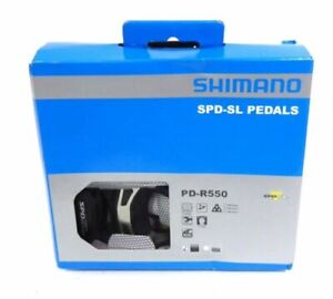 NEW Shimano PD-R550 SPD-SL Road Bike Bicycle Pedals Black Clipless w/ cleats