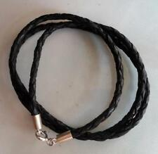 Leather Sterling Silver Handcrafted Necklaces & Pendants