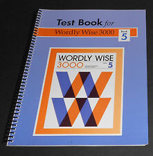 Test Book for Wordly Wise 3000 Book 5 (Hodkinson/Adams) (2002) Free Shipping!