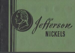 Jefferson Nickels 1938-1961 Meghrig Album Folder USED with 7 unmarked slots