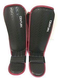 Century Martial Arts Brave MMA Shin Guards Size S/M, Black/Red - 0Q_45