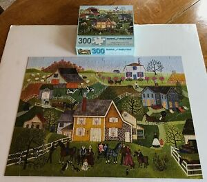 """BITS & PIECES 300 PIECE JIGSAW PUZZLE-""""YELLOW HOUSE"""" BY LINDA NELSON STOCKS"""