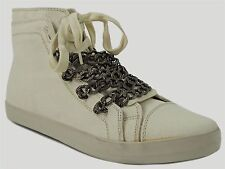UES by Steve Madden Women's U-NISEC Ankle Sneakers Off White Size 10 M