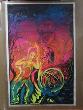 Large Vintage Black Light Poster 1971 ZAP Inv#G940