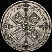 1936   George V One Florin   Silver   Coins   KM Coins