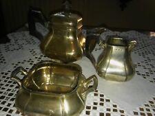 ausgefallenes Teeservice, dreiteilig, Silber punziert, um 1900,