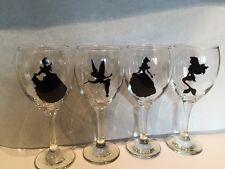 Set Of Four Disney Princess Wine Glasses
