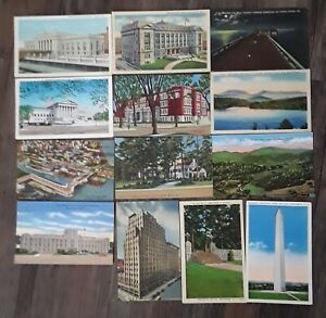 Vintage Lot of 40 USA Linen Postcards Unposted