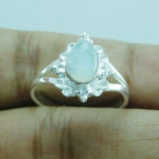 New Look Designer 925 Sterling Silver Rainbow Moonstone Ring SZ-7 utr-628