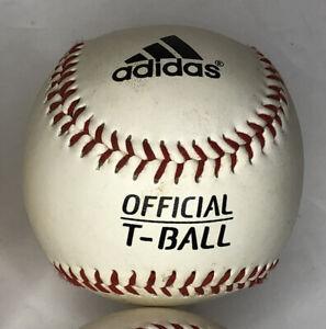 Adidas Rubber Sponge Center Baseball- lot Of 6 Brand New T- Ball Little League