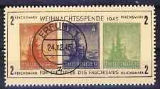 SBZ Thüringen Block 1t gestempelt (*)   REPRINT Fälschung