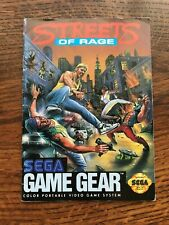 Streets of Rage Sega Game Gear Instruction Manual Only