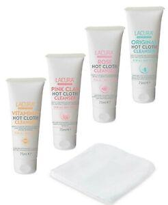 Lacura Hot Cloth Face Cleanser Set/(original,Pink Clay,Vitamin c,Rose)-4 x 75ml