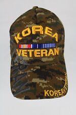 KOREA VETERAN - Camouflage Adjustable Military Hat - Brand New -Free US Shipping