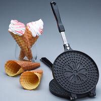 Round 38x15x3CM Waffle Crispy Cone Maker Ice Cream Egg Roll Maker Mold