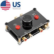 2-Way RCA AV Switcher Composite Video L/R Audio Selector Switcher Splitter Box