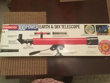 Tasco 100 Power Earth and Sky Telescope - New- Rough Box