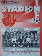 Programm 1998/99 VfB Lichterfelde - FC Schönberg 95