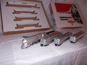 AMERICAN FLYER  #5306T  SILVER BULLET  TRAIN SET IN REPRODUCTION BOX  LOT #M-54