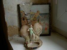 SOLIFLORE Souvenir Bord de Mer-époque 1930 -Baigneuse Porcelaine ART DECO FRANCE