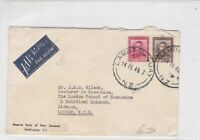 new zealand 1949 air mail stamps cover ref 20552