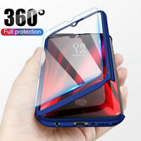 For Xaiomi Redmi 8 8A Note 8 Pro 360° Full Protective Case Cover+Tempered Glass