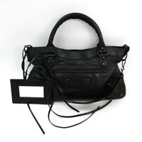 Balenciaga Fast 103208 Women's Leather Shoulder Bag Black BF327200