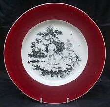 Royal Staffordshire Dinner Plate by Clarice Cliff A Gentleman & Dog out Shooting