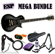 ESP LTD EC-1000 Deluxe Series Black BLK NEW EC1000 EC-1000 EMG - MEGA BUNDLE 1