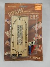 Fundex 1989 Brain Testers Horse Race Wood Game SEALED