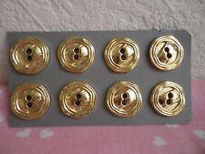 28 boutons NEUFS (ref 18) en plastique doré ; diam 1,8 cm