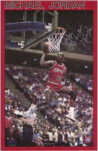 Michael Jordan signed autographed Rookie Era poster! RARE! AMCo Authenticated!