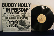 Buddy Holly In Person Volume 2, Cricket Records C002000, 1977 Rock, Newscasts