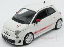 Fiat Nuova 500 Abarth Esse Esse 2008 White Red Burago 1:24 BU22121W
