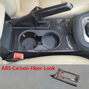 2011-2018 For VW Jetta Carbon Fiber Look Front Water Cup Holder Panel Cover Trim