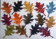 Batik Incised Oak Leaves fabric scrap Pack remnants patchwork bundle 100% cotton