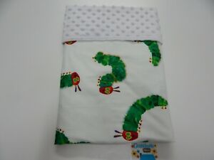 Very Hungry Caterpillar Baby Blanket - Bassinet Pram Capsule Minky Dot Back