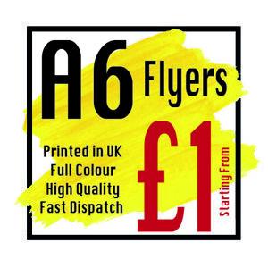 A6 Flyers Leaflets Printed Full Colour Flyer Leaflet Printing 150gsm silk