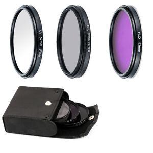 52MM/55MM/58MM UV CPL FLD Filter Kit  For DSLR SLR Canon Rebel
