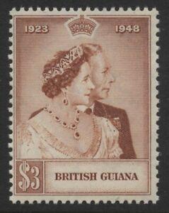 British Guiana 1948 $3 Silver Wedding Sc# 245 NH