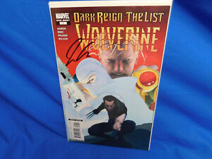 Dark Reign The List Wolverine #1 Marvel 2009 Jason Aaron Signed Esad Ribic VF/NM